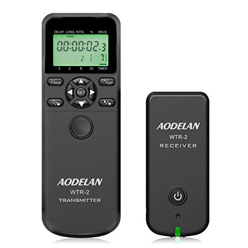 Camera Remote Wireless Shutter Release Intervalometer with LCD for Canon EOS RP, Rebel T6, T7, T7i, 5D, 6D, 90D, SL2, 6D II, 5D IV, SX70 HS; for Fujifilm GFX 50R, X-T3; for Olympus OM-D E-M1 Mark II