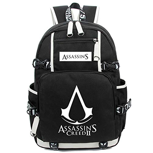 AUGYUESS Luminous School Bag Daypack Book Bag Laptop Bag Backpack for Assassin's Creed Cosplay (3)