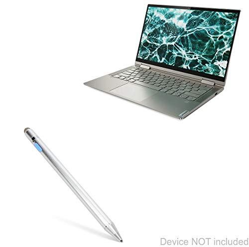 Lenovo Yoga C740 (14 in) Stylus Pen, BoxWave [AccuPoint Active Stylus] Electronic Stylus with Ultra Fine Tip for Lenovo Yoga C740 (14 in) - Metallic Silver