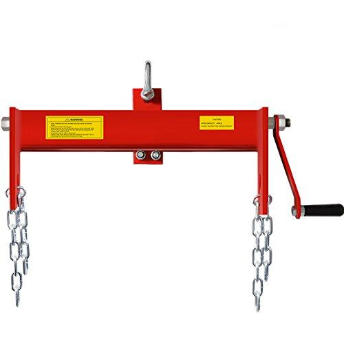 VIVOHOME Heavy Duty Steel 2 Ton / 4000lbs Engine Hoist Load Leveler Shop Crane Cherry Picker with 2 Chains