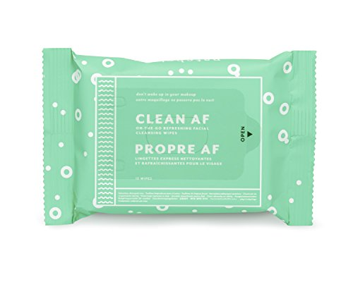 Patchology Clean AF On-the-Go Refreshing Facial Wipes for Cleansing Skin, 1 Count