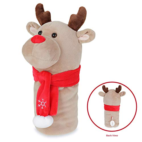 EQ SPORT Animal Golf Head Cover Reindeer - Golf Fairway Wood Headcover Sold Separately | Animal Character Golf Christmas Reindeer for Golf Lovers (Wood/Hybrid) | 1 Headcover