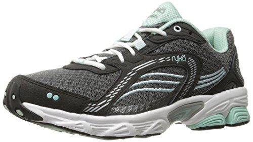 Ryka womens Ultimate Running Shoe, Grey/Black, 8 Wide US