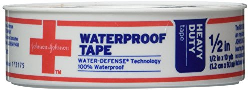 Johnson and Johnson Red Cross Waterproof First Aid Tape 1/2 Inch X 10 Yards (Pack of 3)