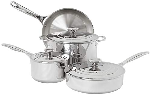 Le Creuset Tri-Ply Stainless Steel Cookware Set, 7 Piece
