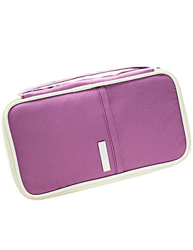 iSuperb Portable Passport Wallet Travel Zipper Waterproof Passport Holder Organizers Storage Large Capacity Clutch Pouch Compartment for Women Men