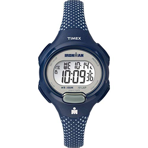 Timex Women's TW5M16700 Ironman Essential 10 Blue/White Dots Resin Strap Watch