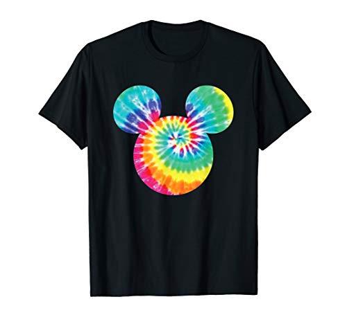 Disney Mickey Mouse Icon Rainbow Tie-Dye T-Shirt