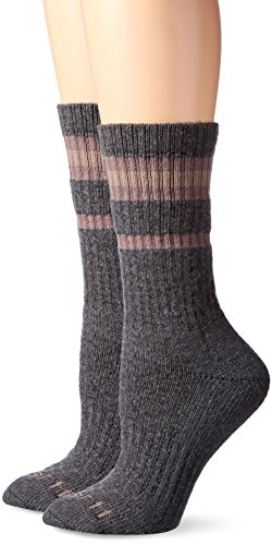 Carhartt womens Thermal Heavy Duty Crew 2-pair Casual Sock, Gray, Shoe Size 5-12 US