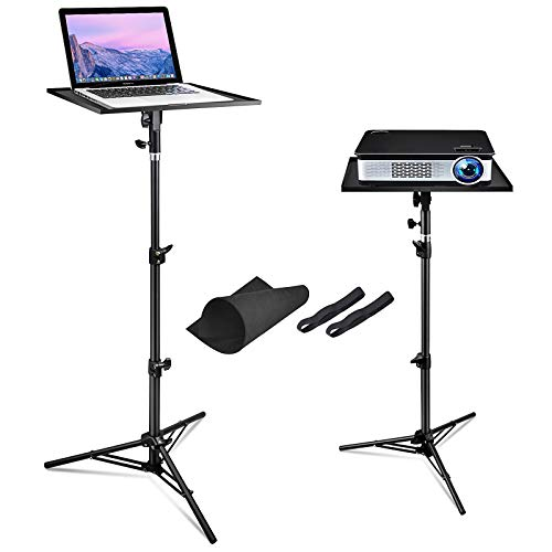 Laptop Projector Tripod Stand, Universal Adjustable Laptop Stand Computer DJ Equipment Holder Mount, Outdoor Foldable Tripod Stand for Stage or Studio, Height Adjustable 23 to 44 Inch