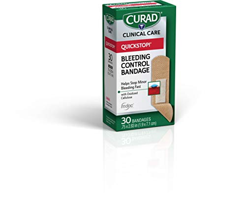 Curad - CUR5243V1 Quickstop Instant Clotting Technology, Flex Fabric Bandages, Helps with Minor Bleeding, 30 ct. (Pack of 3)