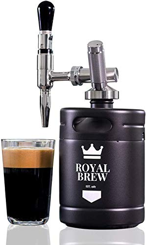 Royal Brew Nitro Cold Brew Coffee Maker Home Keg Kit System (Matte Flat Black 64 oz)