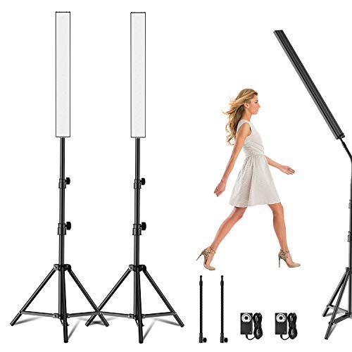 Yesker LED Video Light 2 Packs Dimmable Photography Studio Lighting Kit Color 5500K Adjustable Brightness with TripodStand for CameraVideo Product Portrait Live Stream Shooting