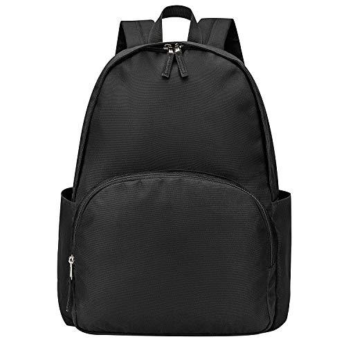 Vorspack Backpack School Backpack, Lightweight Classic School Bookbag Water Resistant for Boys & Girls - Black