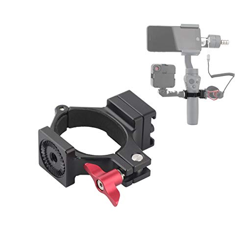 AFVO Ring Hot Shoe Adapter for DJI om 4 (Osmo Mobile 4), Osmo Mobile 3, Osmo Mobile 2 and Osmo Mobile 1, Adapter for Microphone and Light