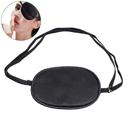 Pure Silk Eye Patch For Adults, Amblyopia Obscure Astigmatism Training Strabismus Correction Black