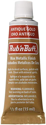 AMACO Rub 'n Buff Wax Metallic Finish, Antique Gold, 0.5-Fluid Ounce