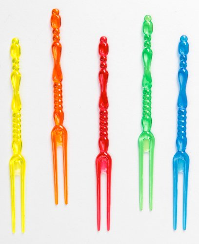 The BAR Set of 50 Cocktail/Appetizer Forks in Assorted Colors