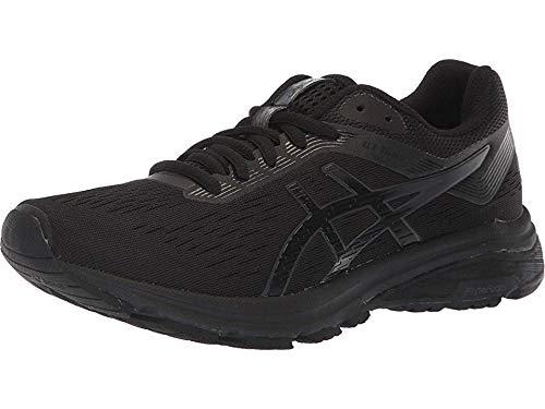 ASICS Women's GT-1000 7 Running Shoes, 9.5, Black/Phantom