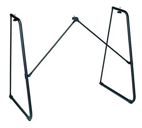 Yamaha L-2C Keyboard Stand, Foldable and Practical Instrument Stand with A Sturdy Design, Black
