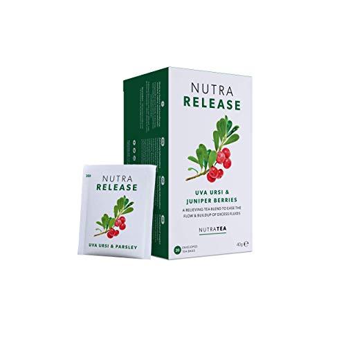 NUTRARELEASE - Kidney Tea | Bloated Stomach Tea – Includes Uva Ursi, Dandelion & Nettle - Assist With Water Retention & Digestion - 20 Enveloped Tea Bags - by Nutra Tea - Herbal Tea