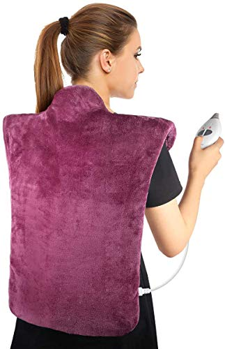 Heating Pad for Back and Shoulder Pain, Electric Heating Wrap with Fast Heating and Massage Modes for Adbominal Cramps,Chronic Pain Relief, Gifts for Women