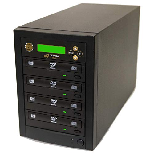 Acumen Disc 1 to 3 DVD CD Duplicator for Multiple Discs Copies with 24x Writers Burners Drives (Standalone Audio Video Copy Duplication Device Unit)