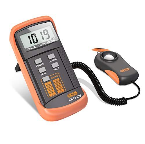 Dr.meter LX1330B Digital Illuminance/Light Meter, 0-200,000 Lux Luxmeter