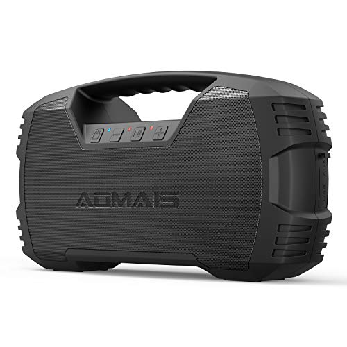 AOMAIS GO Bluetooth Speakers, 40H Playtime Outdoor Portable Speaker, 40W Stereo Sound Rich Bass, IPX7 Waterproof Bluetooth 5.0 Wireless Pairing,10000mAh Power Bank, for Party, Travel,Indoor