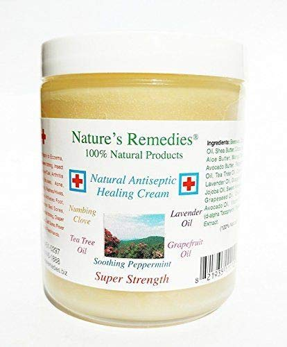 100% Natural Antiseptic Healing Cream: Dr. Recommended, 5X Faster Healing, Wounds, Infected Skin, Bed Sores, Diabetic Ulcers, Neuropathy, Burns, Eczema, Psoriasis, Itchy Skin, Res Q Ointment 4 oz.