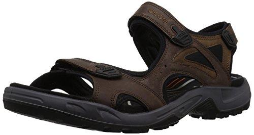 ECCO Men's Offroad Lite 3-Strap Sandal, Espresso/Cocoa Brown Nubuck, 47 M EU (13-13.5 US)