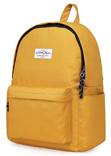 CANDER Middle School Backpack for Teen Girls & Boys: Classic, Comfort, Multi-pockets, Durable for Junior High Schooler, Golden Color