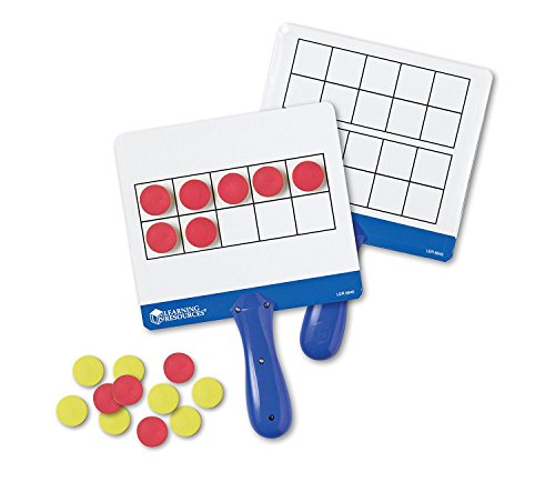 Learning Resources Magnetic Ten-Frame Answer Boards, Set of 4 with 100 counters