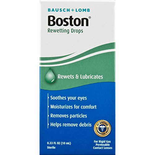 Boston Rewetting Drops for Rigid Gas Permeable Contact Lenses, 0.33 Fl Oz (Pack of 1)