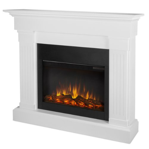 Real Flame 8020E-W 8020E Crawford Electric Fireplace, White