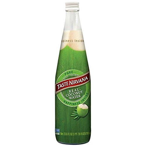 Taste Nirvana Coconut Water, 23.6 Ounce Bottles, 6 Count