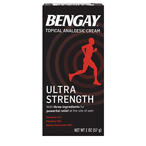 Ultra Strength Bengay Pain Relief Cream, Topical Analgesic for Arthritis, Muscle, Joint & Back, 2 oz