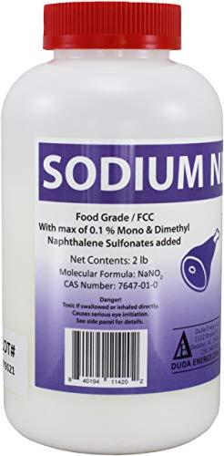 2 lb Sodium Nitrite Food Grade 99+% Pure Granular Free Flowing Food Processing & Manufacturing