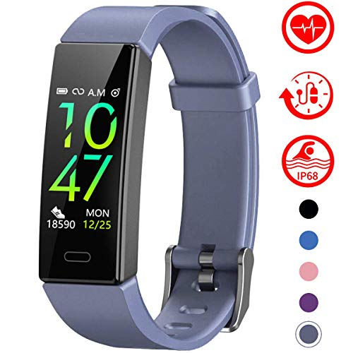 Mgaolo Fitness Tracker with Blood Pressure Heart Rate Sleep Monitor,10 Sport Modes IP68 Waterproof Activity Tracker Fit Smart Watch with Pedometer Calorie Step Counter for Fitbit Women Men Kids