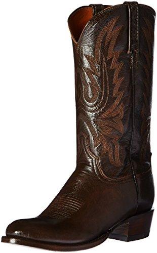 Lucchese Bootmaker Men's Carson-ant Lonestar Calf Cowbo Riding Boot, Antique Walnut, 8.5 D US