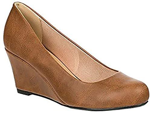 Forever Doris-22 Wedges Pumps-Shoes mve Shoes Doris 22 tan pu Size 8.5