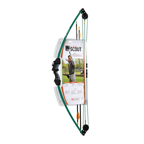 Bear Archery Scout Youth Bow Only – Hunter Green – Recommended for Children 4 to 7 Years Old
