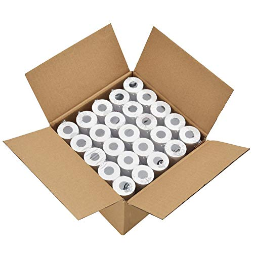 PackingSupply Thermal Paper Rolls 2 1/4' X 85' Cash Register POS Receipt Paper (50 Rolls)