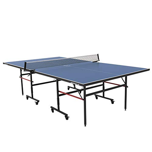 STIGA Advantage Lite Recreational Indoor Table Tennis Table 95% Preassembled Out of Box with Easy Attach and Remove Net, Blue, One Size