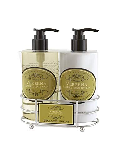 Naturally European - Luxury Hand Wash & Hand Lotion - Verbena - Hand Care Caddy Gift Set