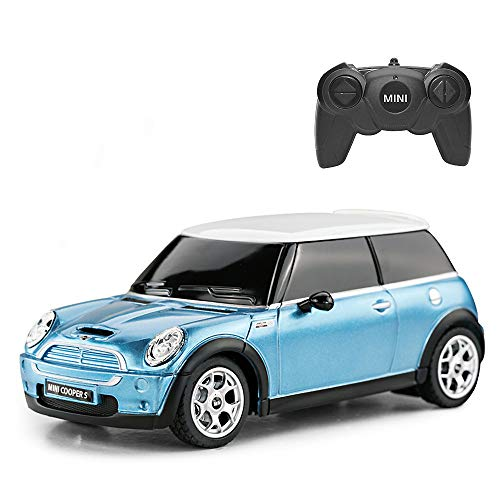 RASTAR RC Mini Cooper Toy Car, 1/24 Mini Cooper S Remote Control Car - Sky Blue