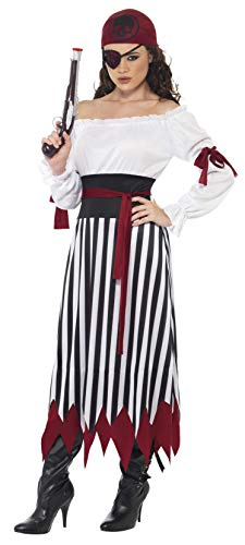 Smiffys Pirate Lady Costume, Small-US Size 6-8
