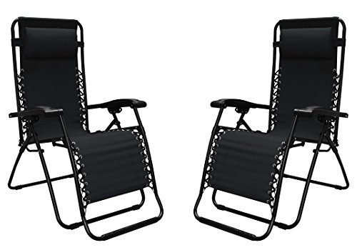 Caravan Canopy 80009000052 Sports Infinity Zero Gravity Chair (2 Pack), Black