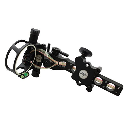 Southland Archery Supply SAS 7 pins .019' Bow Sight with Micro Adjust Detachable Bracket LED Sight Light (Black)