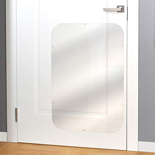 PETFECT Door Scratch Protector Premium Dog Door Cover for Interior & Exterior Use - Clear (35.5 x 24)